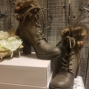 Guess Faux Fur Lined Boots